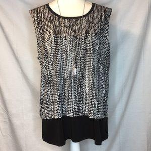 Women's Tahari sleeveless blouse